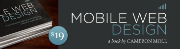 Mobile Web Design, a book by Cameron Moll