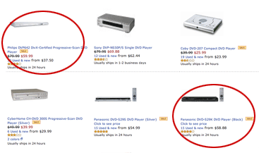 Image showing Amazon search results