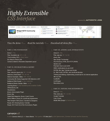 Site for the Extensible CSS series