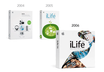 Image showing iLife packing from 2004 to 2006