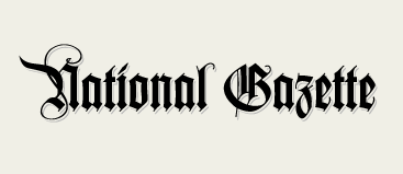 National Gazette logo, second draft